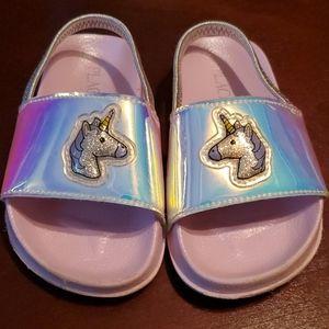 🌞 SALE: Toddler Girl Unicorn Flip Flops, Size 9